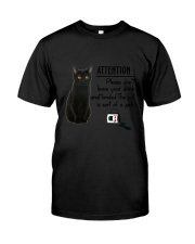 Black Cat Attention Classic T-Shirt thumbnail