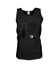 Black Cat Attention Unisex Tank thumbnail