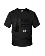 Black Cat Attention Youth T-Shirt thumbnail