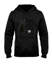 Black Cat Attention Hooded Sweatshirt thumbnail