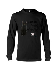 Black Cat Attention Long Sleeve Tee thumbnail