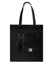 Black Cat Attention Tote Bag thumbnail