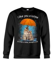Cat I Like You A Lottle Crewneck Sweatshirt thumbnail