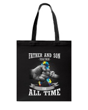 Father And Son Autism Tote Bag thumbnail