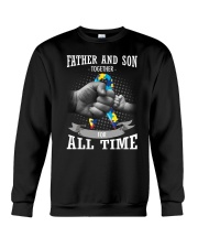 Father And Son Autism Crewneck Sweatshirt thumbnail