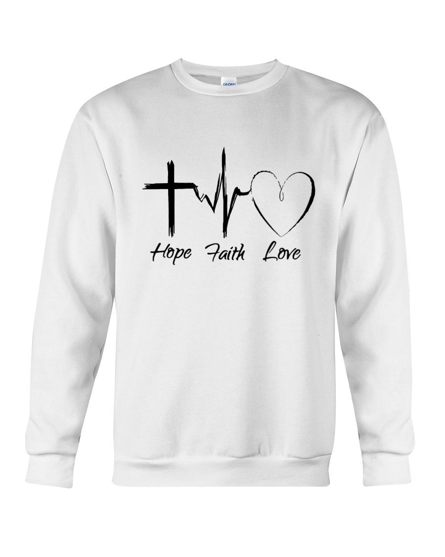 Hope Faith Love Crewneck Sweatshirt