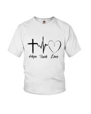 Hope Faith Love Youth T-Shirt thumbnail