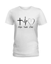 Hope Faith Love Ladies T-Shirt thumbnail