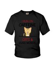 Cat Caffeine Youth T-Shirt thumbnail
