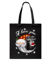 Black Cat Love You To Moon And Back Tote Bag thumbnail