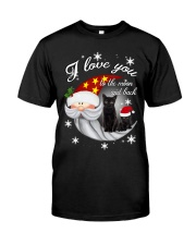 Black Cat Love You To Moon And Back Classic T-Shirt thumbnail