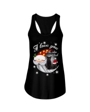 Black Cat Love You To Moon And Back Ladies Flowy Tank thumbnail