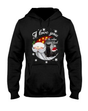 Black Cat Love You To Moon And Back Hooded Sweatshirt thumbnail