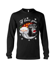 Black Cat Love You To Moon And Back Long Sleeve Tee front