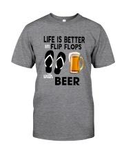 Flip Flops Beer Classic T-Shirt front