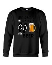 Flip Flops Beer Crewneck Sweatshirt thumbnail
