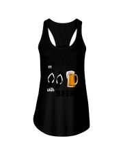 Flip Flops Beer Ladies Flowy Tank thumbnail