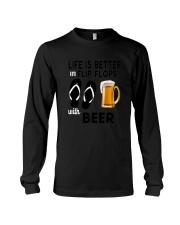 Flip Flops Beer Long Sleeve Tee thumbnail