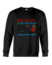 Mommy And Daddy Autism Crewneck Sweatshirt thumbnail