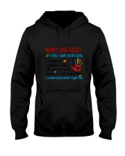 Mommy And Daddy Autism Hooded Sweatshirt thumbnail