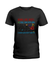 Mommy And Daddy Autism Ladies T-Shirt thumbnail