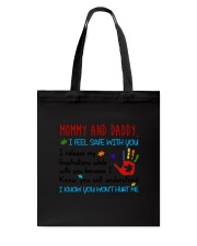 Mommy And Daddy Autism Tote Bag thumbnail