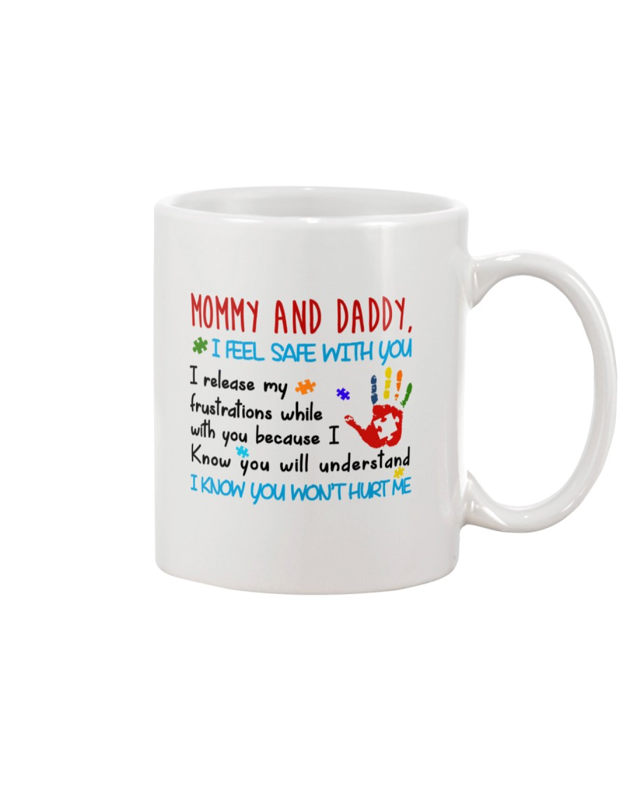 Mommy And Daddy Autism Mug