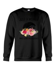 Just A Woman Hedgehogs Crewneck Sweatshirt thumbnail