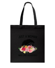 Just A Woman Hedgehogs Tote Bag thumbnail