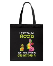 I Try To Be Good Dragon Tote Bag thumbnail