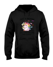 Coffee And Unicorn Hooded Sweatshirt thumbnail