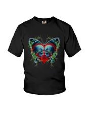 Skull Butterfly Youth T-Shirt thumbnail