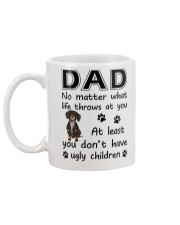 Dad Dachshund Mug back
