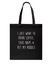 Pet My Poodle Tote Bag thumbnail