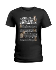 Cat Music Ladies T-Shirt thumbnail