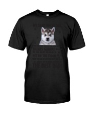 Human Dad Siberian Husky Classic T-Shirt thumbnail