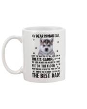 Human Dad Siberian Husky Mug back