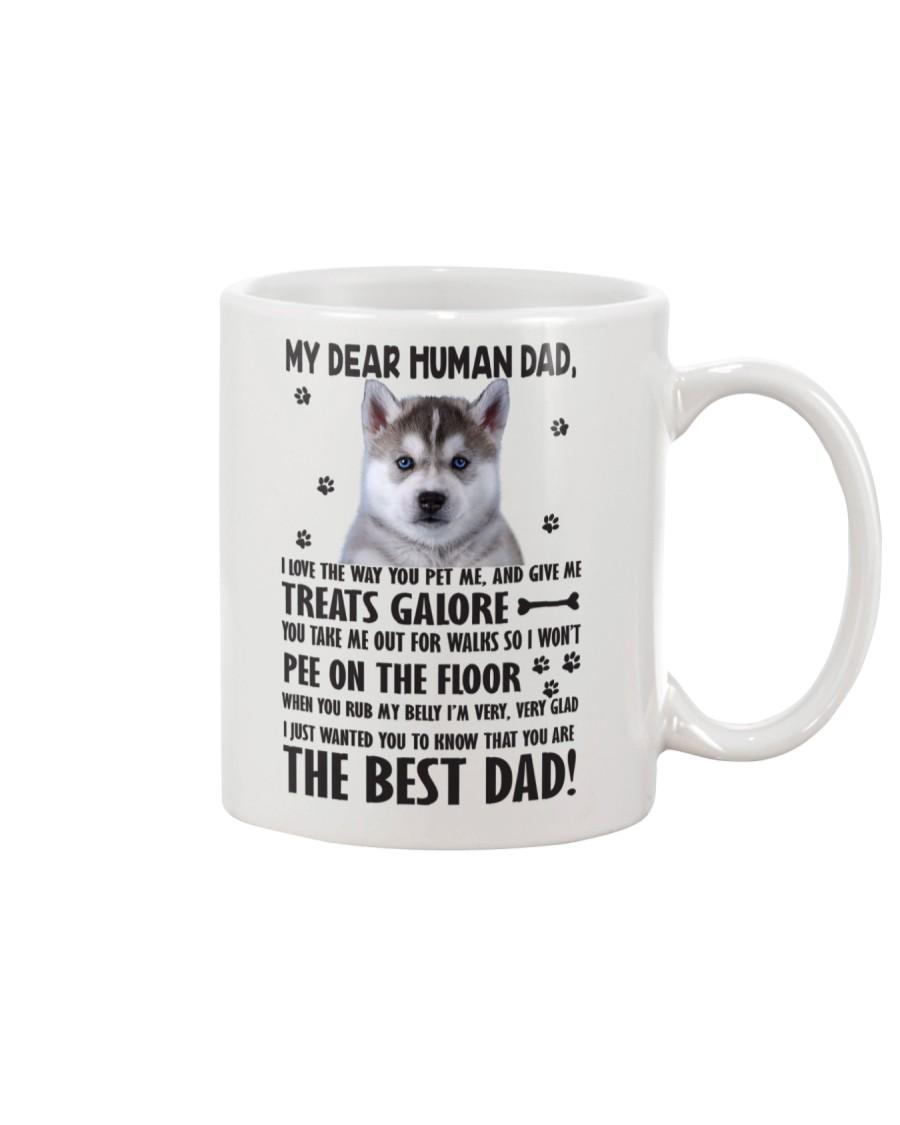 Human Dad Siberian Husky Mug
