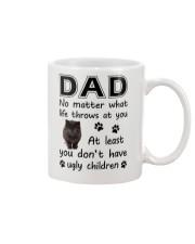 Dad Black Cat Mug front