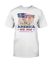 4th July Labrador Retriever Classic T-Shirt front
