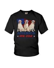 4th July Labrador Retriever Youth T-Shirt thumbnail