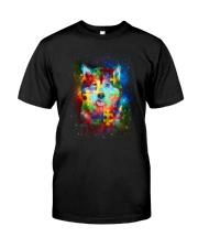 Siberian Husky Autism Classic T-Shirt front