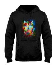 Siberian Husky Autism Hooded Sweatshirt thumbnail