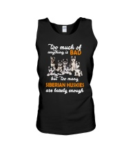 Siberian Husky Barely Enough Unisex Tank thumbnail