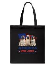 4th July Pug Tote Bag thumbnail
