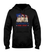 4th July Pug Hooded Sweatshirt thumbnail