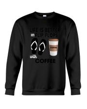 Flip Flops Coffee Crewneck Sweatshirt thumbnail