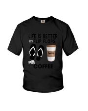 Flip Flops Coffee Youth T-Shirt thumbnail