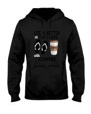 Flip Flops Coffee Hooded Sweatshirt thumbnail
