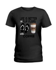 Flip Flops Coffee Ladies T-Shirt thumbnail
